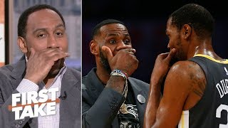 LeBron, Kevin Durant wanted attention with secret conversation - Stephen A. | First Take