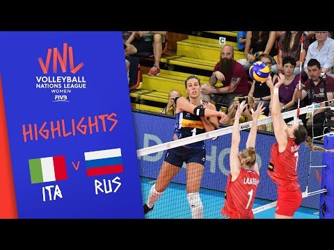 ITALY vs. RUSSIA - Highlights Women | Week 4 | Volleyball Nations League 2019