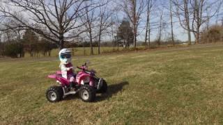 Drone Footage of Kids Polaris Electric Four Wheeler Quad ATV Golf Cart DJI and Some Big Houses