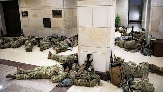 Soldiers Haven't Camped Inside US Capitol Since Civil War