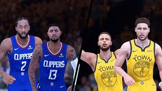 NBA 2K20 Modded Gameplay! - Los Angeles Clippers vs. Golden State Warriors - Full Gameplay