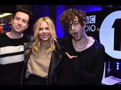 Matty Healy from The 1975 with Sienna Miller // BBCR1's Breakfast Show, January 2017 (part 2)