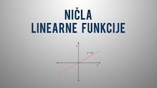 Ničla linearne funkcije