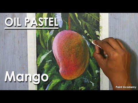 Oil Pastel Drawing : A Composition on Mango | step by step techniques