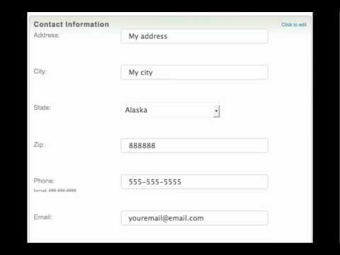 Edit Your Contact Information .mp4