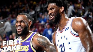 LeBron should enlist Joel Embiid and Boban Marjanovic to join Space Jam 2 – Stephen A. | First Take
