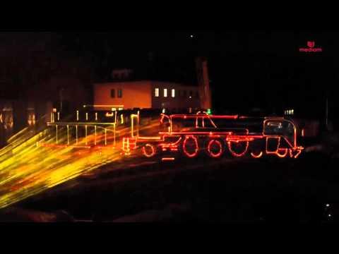 Mapping laserowy Parada Parowozów Wolsztyn 2015 LASERY INFO