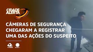 Pedófilo preso: câmeras de segurança chegaram a registrar uma das ações do suspeito