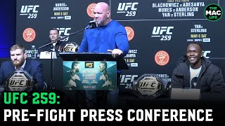 UFC 259 Pre-Fight Press Conference: Israel Adesanya vs. Jan Blachowicz