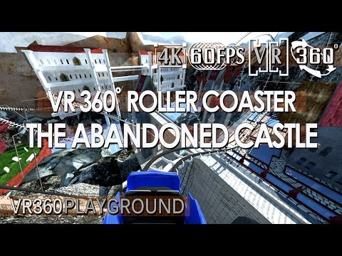 VR 360? Roller Coaster - The Abandoned Castle VR360 Playground