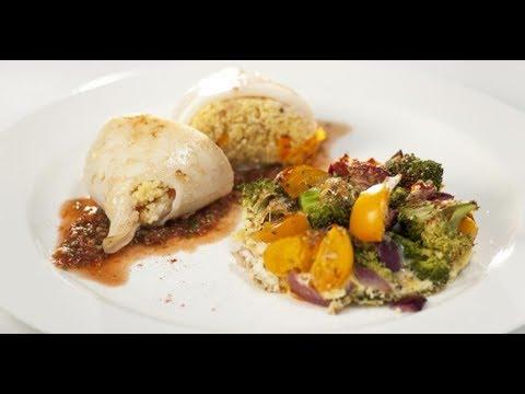 Фаршированные кальмары с овощной фриттатой | Маргарита и мастера