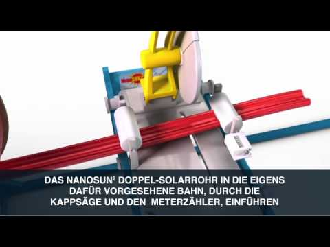 Roll-Out System für NanoSun2 Doppel-Solarrohr
