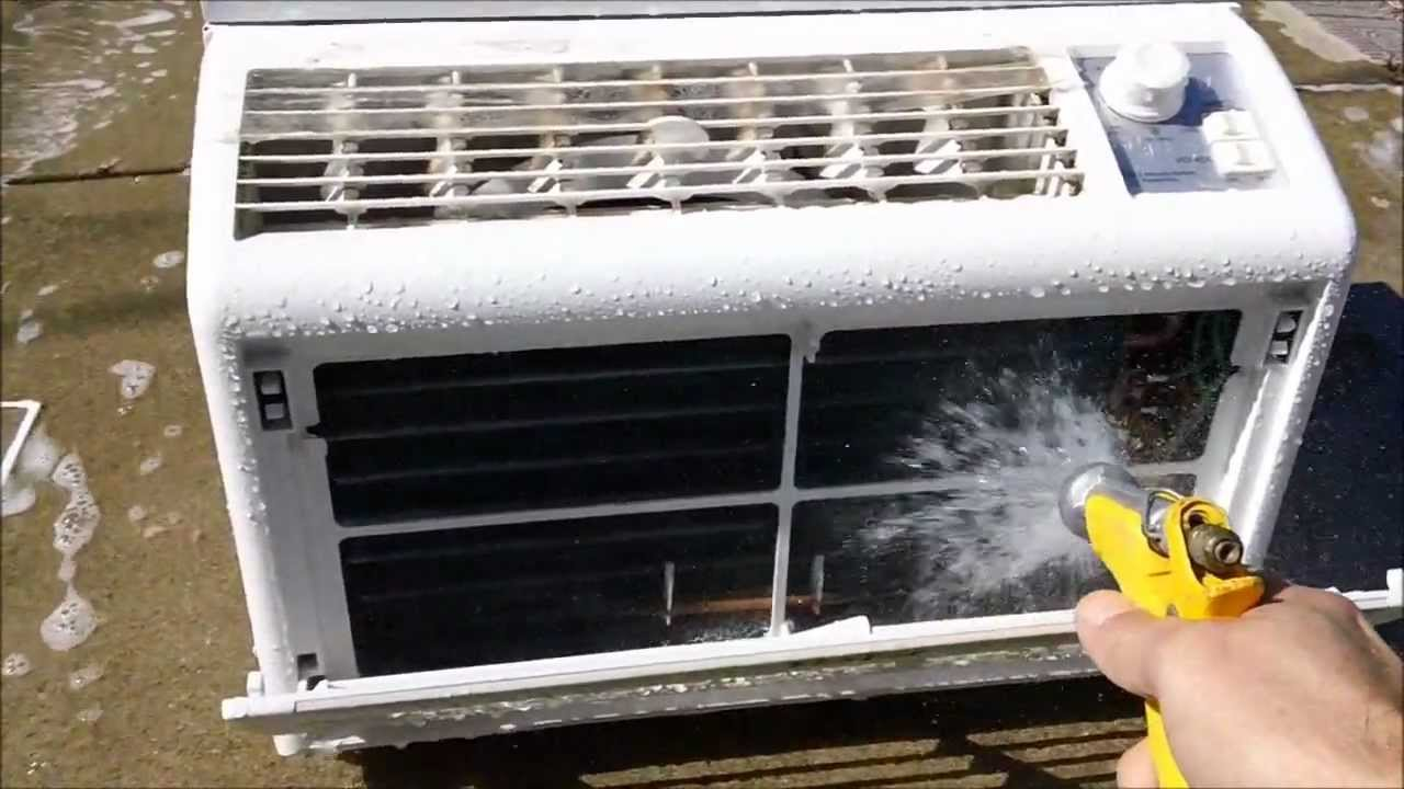 How To Clean A Window Air Conditioner Youtube
