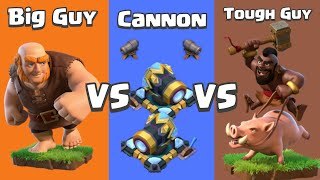 Every Level Cannon VS Hog Rider and Giant   Clash of Clans