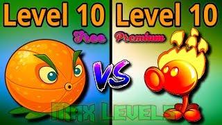 Plants vs Zombies 2 Owerview Citron 10 VS Fire Peashooter 10 Free vs Premium Plants PVZ 2