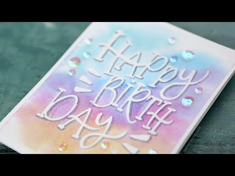 Relaxing Watercolor Painting & Lettering – Birthday Card