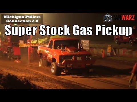 Super Stock Gas Pickup Class At TTPA Truck Pulls In Mayville MI 2018