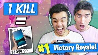 1 KILL = 1 BUY! (HE WENT BROKE) Fortnite Battle Royale Buy Buy Buy Challenge