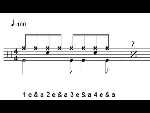 Ritmos básicos de batería para Rock y Pop (Parte 1)