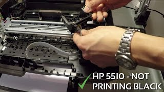 HP Photosmart C5180 - Disassembly & Head Cleaning - antystein