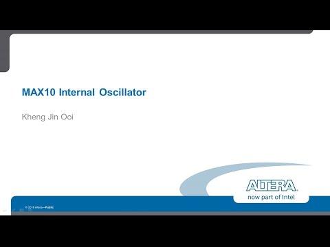 MAX10 oscillator to build NIOS