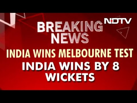 India wins Melbourne Test by 8 wickets, levels four-match series 1-1