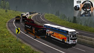 Crazy bus driver on Road | Euro truck simulator 2 with bus