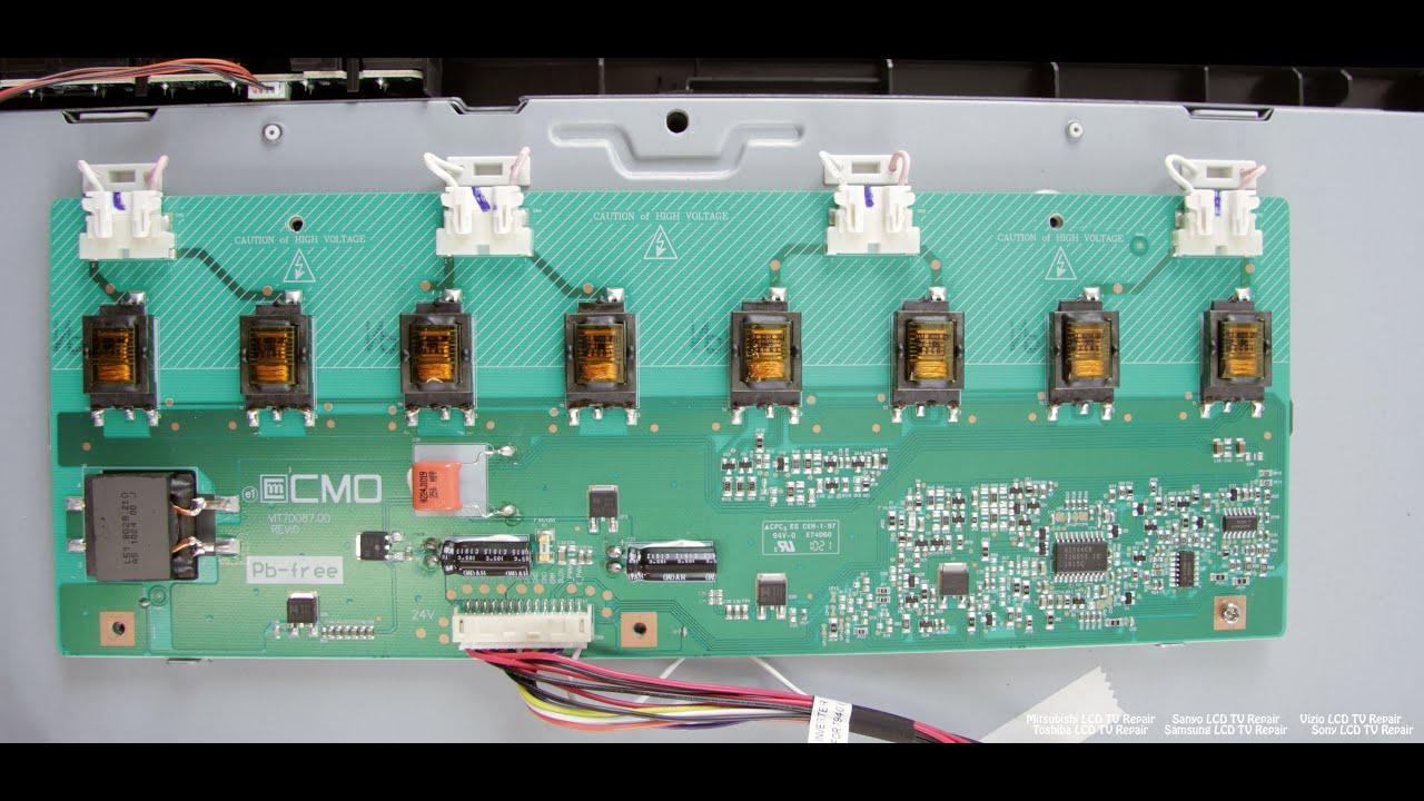Lcd Tv Repair Tutorial Backlight Inverter Common