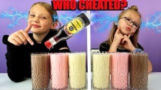 Who Cheated? Twin Telepathy Milkshake Challenge!!!