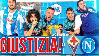 🤫GIUSTIZIA!!! FIORENTINA 0-2 NAPOLI | LIVE REACTION TIFOSI NAPOLETANI HD