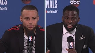 Stephen Curry & Draymond Green Postgame Interview - Game 1 | Cavaliers vs Warriors | 2018 NBA Finals