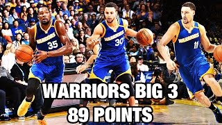 Stephen Curry, Kevin Durant, & Klay Thompson Put up 89 Points!