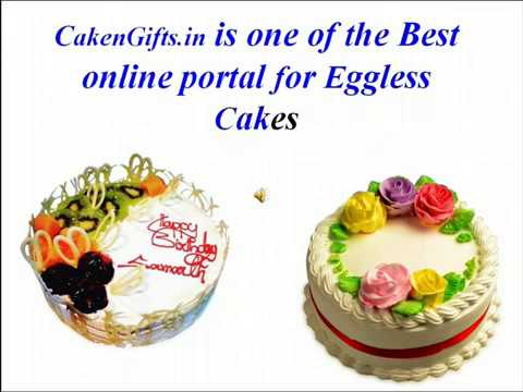 Get eggless Cake Online via CakenGifts.in
