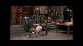 Gibby (iCarly) falls from the ceiling