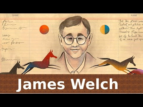 James Welch Google Doodle. 76th Birthday of ''Fools Crow'' Author James Welch.