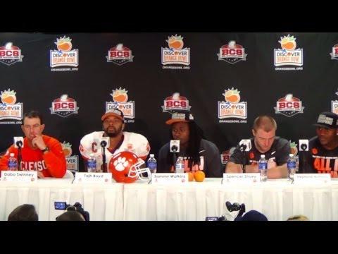 2014 Discover Orange Bowl Post Game Press Conference | Clemson Tigers