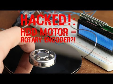 HACKED!: Using an HDD Motor as a Rotary Encoder?!