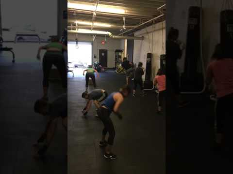 Cardio Box , burpees and tires