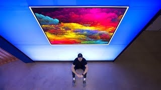 The Mind Bending 77-inch Wallpaper TV