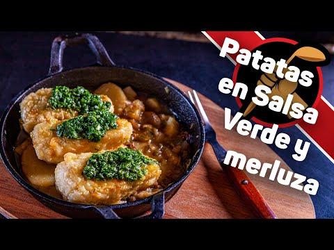 ВКУСНЕЙШАЯ штука! Картофель в зеленом соусе с жареной рыбой.