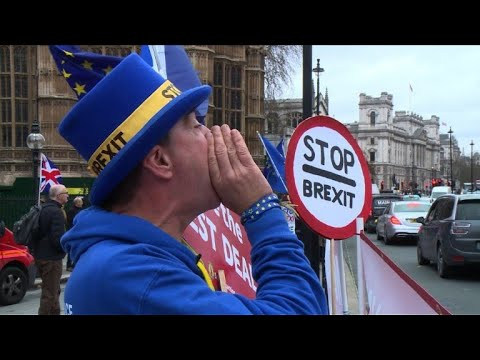 Rain or shine, Mr Stop Brexit delivers his message