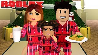 CHRISTMAS EVE ROUTINE IN BLOXBURG | Family Roleplay