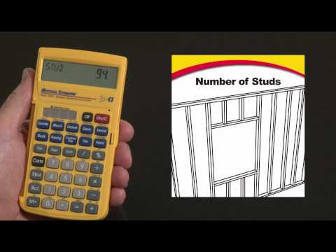 Material Estimator Number of Studs and Cost How To