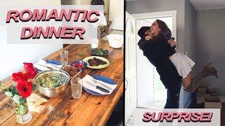 Surprising my boyfriend with a ROMANTIC DINNER