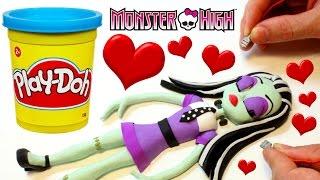 Monster High Doll Frankie Stein PLAY DOH BEST STOP MOTION VIDEOS Dolls