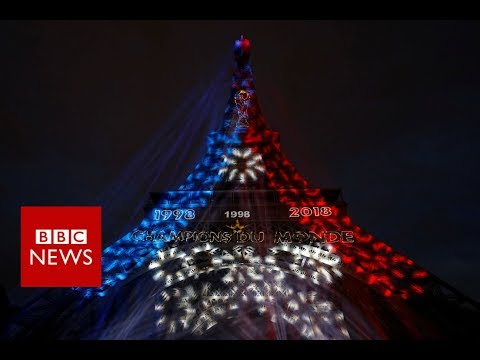 France celebrates winning World Cup 2018 - BBC News