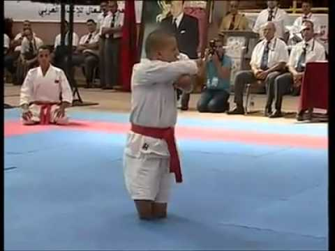 brave handicapped without legs and arms playing karate