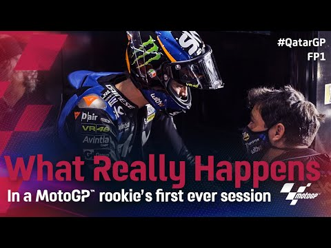 What Really Happens: In a MotoGP™ rookie's first ever session