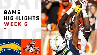 Chargers vs. Browns Week 6 Highlights | NFL 2018