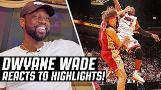 Dwyane Wade Reacts To Dwyane Wade Highlights!